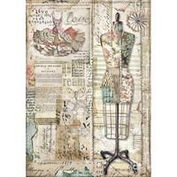Stamperia - Rice Paper, A4, Mannequin