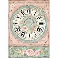 Stamperia - Rice Paper, A4, Clock