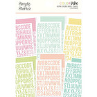 Simple Stories - Color Vibe Alpha Sticker Book, Lights, 1758 tarraa