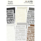 Simple Stories - Color Vibe Alpha Sticker Book, Basics, 1758 tarraa