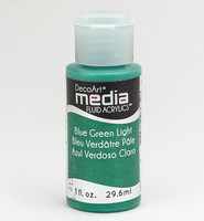 DecoArt - Fluid Acrylics, Blue Green Light, 29ml