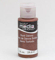 DecoArt - Fluid Acrylics, Burnt Sienna, 29ml