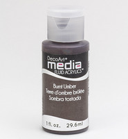 DecoArt - Fluid Acrylics, Burnt Umber, 29ml