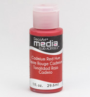 DecoArt - Fluid Acrylics, Cadmium Red Hue, 29ml