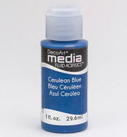 DecoArt - Fluid Acrylics, Cerulean Blue, 29ml