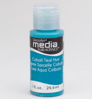 DecoArt - Fluid Acrylics, Cobalt Teal Hue, 29ml