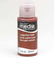 DecoArt - Fluid Acrylics, English Red Oxide, 29ml