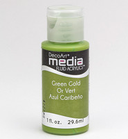 DecoArt - Fluid Acrylics, Green Gold, 29ml