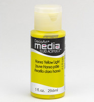DecoArt - Fluid Acrylics, Hansa Yellow Light, 29ml
