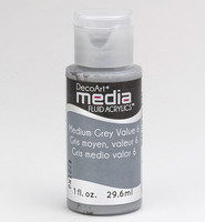 DecoArt - Fluid Acrylics, Medium Grey Value 6, 29ml