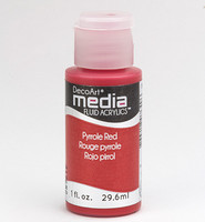 DecoArt - Fluid Acrylics, Pyrrole Red, 29ml