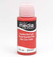 DecoArt - Fluid Acrylics, Napthol Red Light, 29ml
