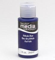 DecoArt - Fluid Acrylics, Phthalo Blue, 29ml