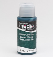 DecoArt - Fluid Acrylics, Phthalo Green-Blue, 29ml