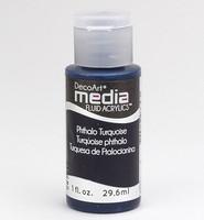 DecoArt - Fluid Acrylics, Phthalo Turquoise, 29ml