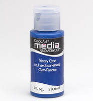 DecoArt - Fluid Acrylics, Primary Cyan, 29ml
