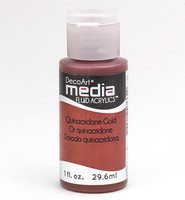 DecoArt - Fluid Acrylics, Quinacridone Gold, 29ml