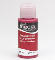DecoArt - Fluid Acrylics, Quinacridone Red, 29ml