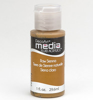 DecoArt - Fluid Acrylics, Raw Sienna, 29ml