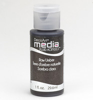 DecoArt - Fluid Acrylics, Raw Umber, 29ml