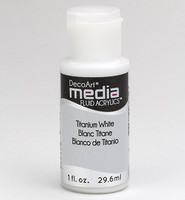 DecoArt - Fluid Acrylics, Titanium White, 29ml