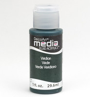 DecoArt - Fluid Acrylics, Viridian Green Hue, 29ml