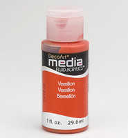 DecoArt - Fluid Acrylics, Vermillion Hue, 29ml
