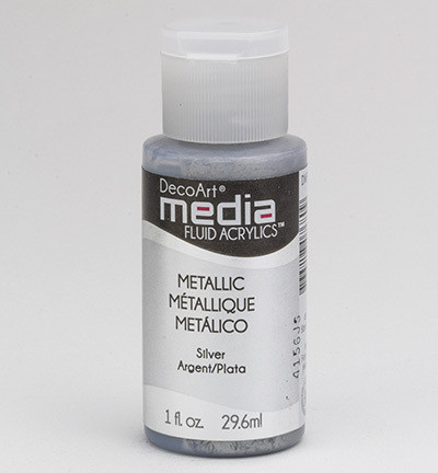 DecoArt - Fluid Acrylics, Metallic Silver, 29ml