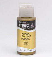 DecoArt - Fluid Acrylics, Metallic Gold, 29ml