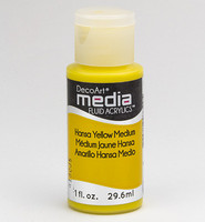DecoArt - Fluid Acrylics, Hansa Yellow Medium, 29ml