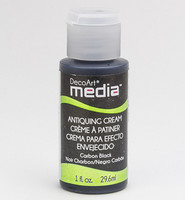 DecoArt - Mixed Media Antiquing Cream, Carbon Black, 29ml