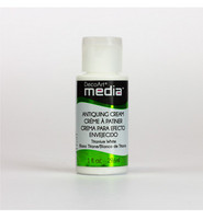 DecoArt - Mixed Media Antiquing Cream, Titanium White, 29ml