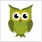 Craft Buddy - Green Owl (K)(P), Timanttitarra