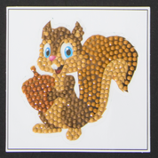 Craft Buddy - Smiling Squirrel (K)(P), Timanttitarra