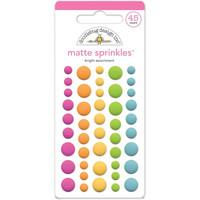 Doodlebug - Bright, Sprinkles Adhesive Matte Enamel Dots, 45 osaa