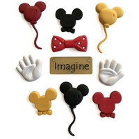 Dress It Up - Mouse Ears,  Koristenappisetti