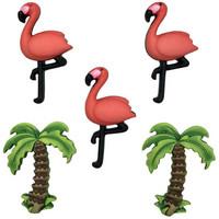 Dress It Up - Pink Flamingo, Koristenappisetti