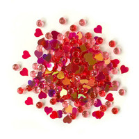 Buttons Galore - Shimmerz Embellishments, 18g, Heart Felt