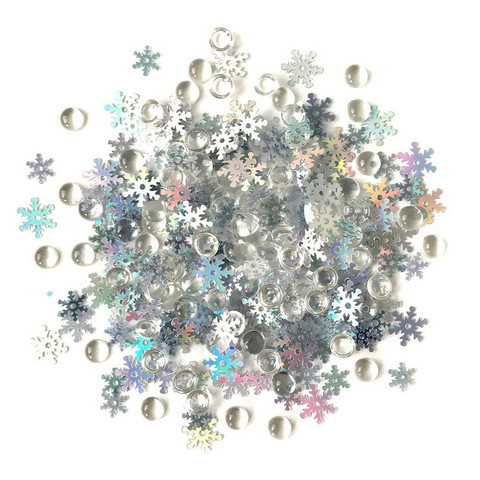Buttons Galore - Shimmerz Embellishments, 18g, Snow Squall