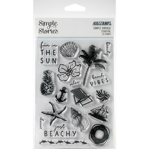 Simple Stories - Simple Vintage Coastal, Photopolymer Clear Stamps, Leimasetti