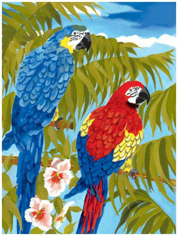 Royal&Langnickel - Paint By Numbers Kit, Parrots