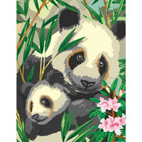 Royal&Langnickel - Paint By Numbers Kit, Panda & Baby