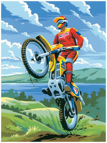Royal&Langnickel - Paint By Numbers Kit, Motocross
