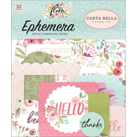 Carta Bella - Flora No. 3 Icons Ephemera, Leikekuvia, 33 kpl