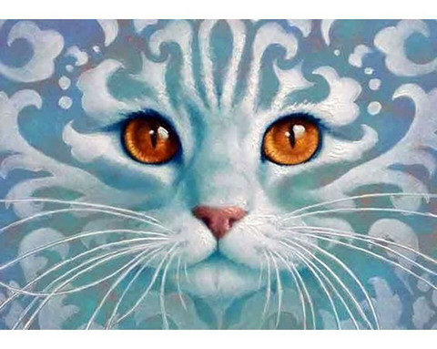 Collection D'Art - Ghostlike cat (K)(N), Timanttimaalaus, 38x27cm