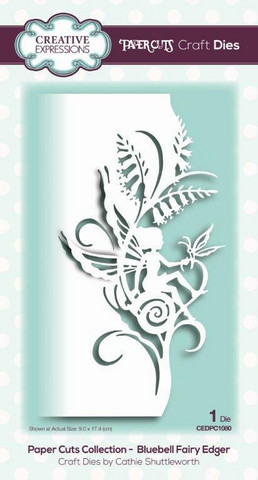 Creative Expressions - Paper Cuts Collection Bluebell Fairy Edger Craft Die, Stanssi