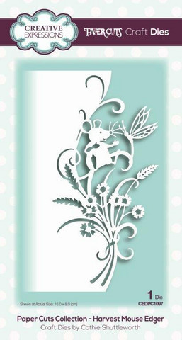 Creative Expressions - Paper Cuts Collection Harvest Mouse Edger Craft Die, Stanssi