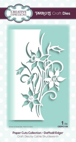 Creative Expressions - Paper Cuts Collection Daffodil Edger Craft Die, Stanssi