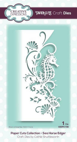 Creative Expressions - Paper Cuts Collection Sea Horse Edger Craft Die, Stanssi
