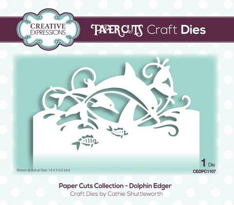Creative Expressions - Paper Cuts Collection Dolphin Edger Craft Die, Stanssi